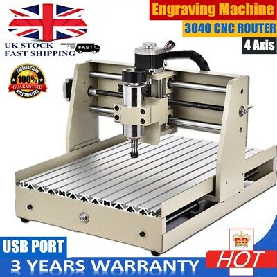 3040 4 Axis USB CNC Router Engraver Engraving Milling Machine Woodworking UK New