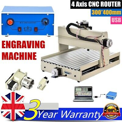 3040 4 AXIS USB CNC Router Engraver Carving DIY Milling Drilling Machine New