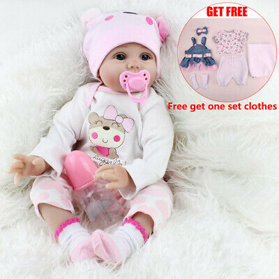 Reborn Dolls Real Baby Doll Realistic Silicone Vinyl Lifelike Gifts Girl Dolls
