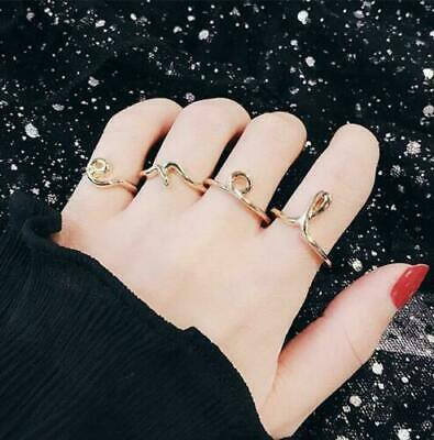 4Pcs/set Charm Women's Love Ring Open Adjustable Elegant Party Ring Jewelry Gift