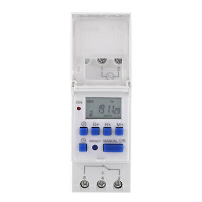 Programmable Timer Switch for street lamps Rail Mounting ON/OFF 2018 New.Hot