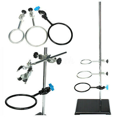 600mm Laboratory Lab Stands Support + 9Pcs Lab Flask Clamp Holder Condenser