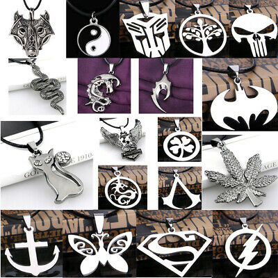 Men Boy Unisex Dragon Eagle Weapon Pendant Necklace Choker Stainless Steel Charm