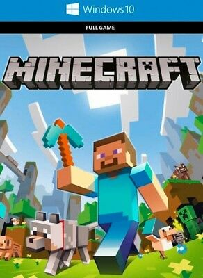 Minecraft Windows 10 Edition PC REGION FREE WINDOWS STORE DOWNLOAD CD KEY NEW