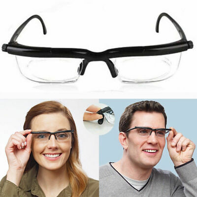 Adjustable Reading Glasses Variable Focus Dial Vision Strength Lens Eyewear Home