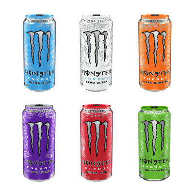 "MONSTER ""Ultra"" energy drink - zero sugar - zero calories - assorted flavors NEW"