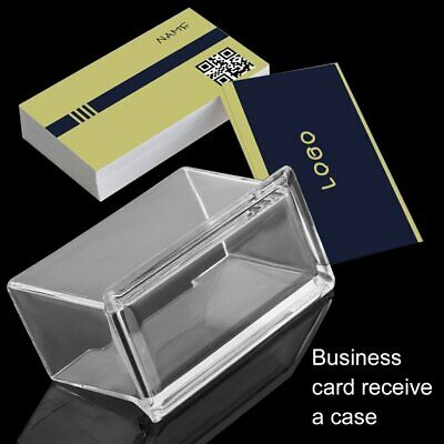 Clear Desktop Business Card Holder Display Stand Acrylic Plastic Desk Shelf+%