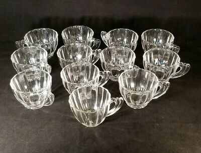 "Heisey  ""Crystolite""  Punch or Custard Cups  - Set of 12 -  Crystal - Marked"