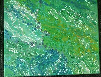 Original acrylic/alcohol ink painting by Anita Abstract, impessionism,