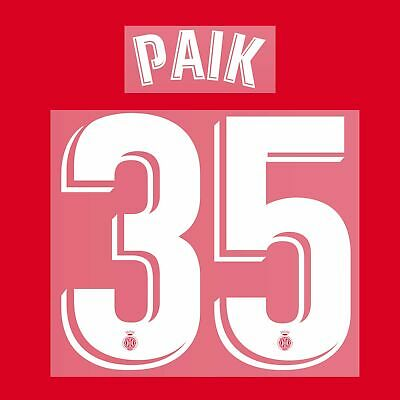 2018-20 Girona Name Set STUANI PAIK for Shirt Jersey
