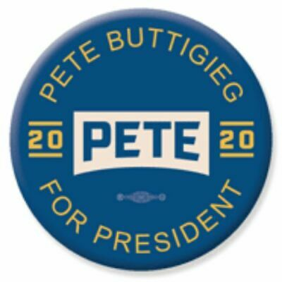 Pete Buttigieg For President 2020 Blue 2.25 Inch Pinback Button Pin