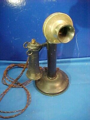 Orig 1920s WESTERN ELECTRIC Model 229W CANDLESTICK Style TELEPHONE Complete