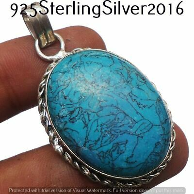 Turquoise Pendant 925 Silver Plated Handmade Pendant Jewelry P-1365
