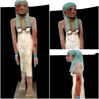 Giant Ushabti Wooden Sculpture Ancient Egypt Antiquity Shabti Hieroglyphics Art