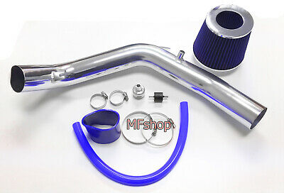 01-05 VW Jetta 1.8T 1.8L 4cyl Blue Cold Air Intake Stainless Steel Filter
