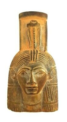 Unique Beautiful ISIS Hathor Sculpture Egyptian Antique Goddess Rare Figurine