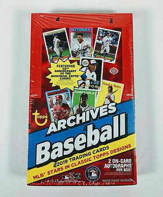 2019 Topps Archives Baseball Factory Sealed Hobby Box (24 Packs) (2 Autographs)