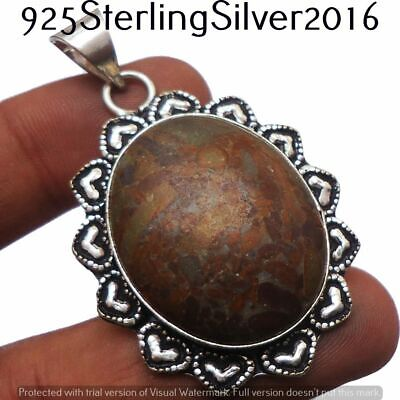 Turquoise Pendant 925 Silver Plated Handmade Pendant Jewelry P-1375