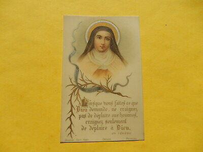 Image Pieuse Holy Card Celluloid  Poitiers Bonamy Sainte Therese