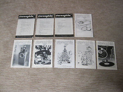 STEREOPHILE AUDIO MAGAZINES Complete second Issue Set, Vol