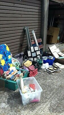 Carboot joblot, workbench, vintage books, bric a brac, pictures etc..