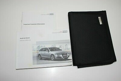Audi A3 Sportback Owners Handbook//Manual and Wallet 08-12