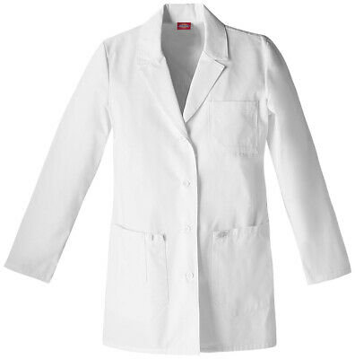 "Dickies EDS 82403 Women's 30"" Lab Coat Medical Uniforms Scrubs"