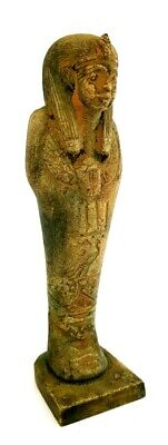 Ushabti W/T Hieroglyphics & Winged Scarab Beetle Ancient Shabti Antiques Statue