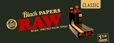 Limited Edition Gold Foil RAW Black 1 1/4 Rolling Papers 50 Lvs/Pk Only 21 left