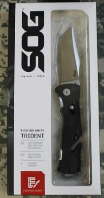 SOG Trident Folding Knife SOG Assisted Technology (SAT) AUS-8 Blade TF2-CP NEW!!