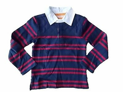 NWT Boy's Gymboree Rescue Squad blue red long sleeve polo shirt ~ 4