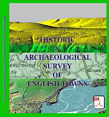 Historic Survey Of English Towns (2 Discs) Metal Detecting Research