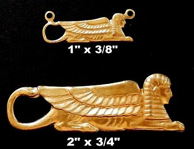 Ancient Egyptian Sphinx - Vintage Brass Stampings / Two Sizes