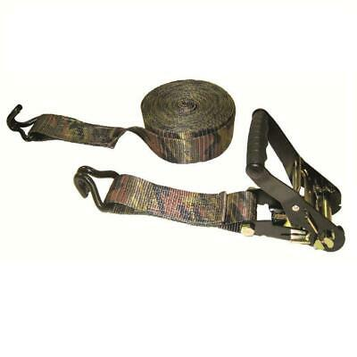 Buckled Strap Padded Camo Ratchet with Double J-Hooks 16 ft x 2 in x 10,000 lbs