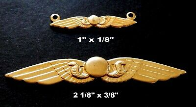 Egyptian Revival/ Wings of Isis /Cobra - Vintage Brass Stampings /2 Styles