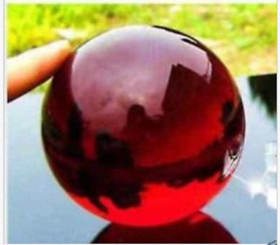 37-40mm + Stand Asian Rare glass red Magic Crystal Healing Ball Sphere