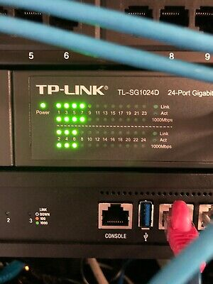 TP-LINK TLSG1024D 24 Ports Rackmount Network Switch