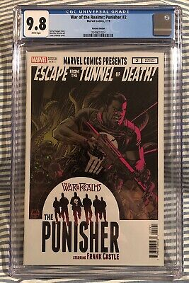 War of the Realms Punisher #2 1:25 Dave Johnson Variant Marvel 2019 CGC 9.8 NM