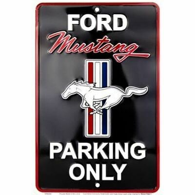 Mustang Parking Only Metal Sign - Black. Get Free USA Shipping Today!