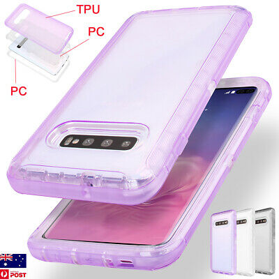 For Samsung Galaxy S10+ Plus S10e Clear Heavy Duty Armor Shockproof Case Cover
