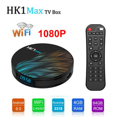 Android 9.0 HK1MAX Mini TV BOX 4+64G Quad Core HDMI RK3318 USB3.0 Media Player