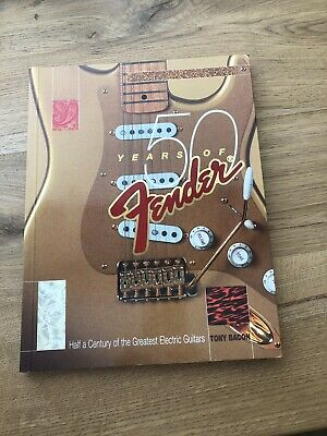 50 Years Of Fender Softcover Book Leo Fender Stratocaster Telecaster 128 Pgs