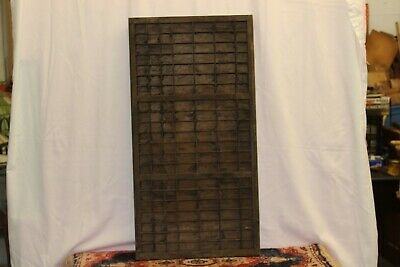 Vintage Printer's Letterpress Type Tray/Drawer Shadow Box Full Size