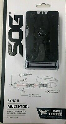 NEW SOG Sync II Traveler Belt Buckle Multi-Tool NO KNIFE TSA COMPLIANT Pliers