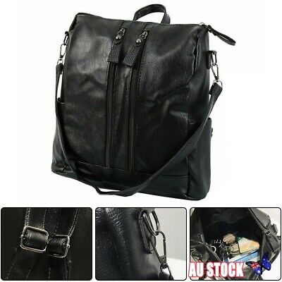 New Women's Leather Backpack Anti-Theft Rucksack School Shoulder Bag AU