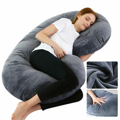Maternity Pregnancy Nursing Sleeping Body Pillow Support Feeding Boyfriend