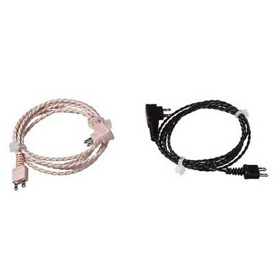 1Pc Standard 2pin Cable For Body Aids Hearing Aid Receiver Wire Cord new.  MA