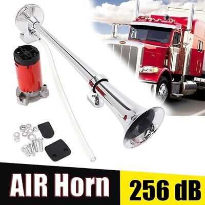 12V Super Loud Air Horn Kit Single Trumpet Horn With Compressor For Trucks Boat