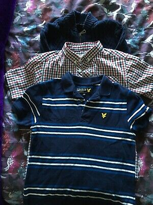 Boys Top  Bundle.  Lyle And Scott And Ben Sherman Age 8/9.
