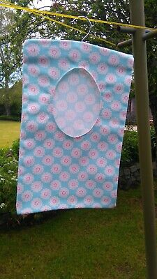 Handmade Peg Bag - blue floral